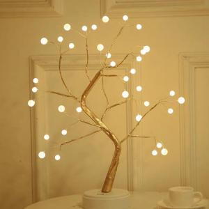 Konstträd med belysning
