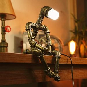 Robot Steampunk skrivbordslampa