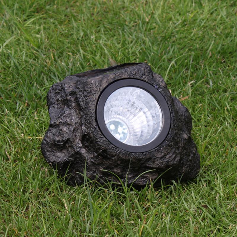 Stenformad solcellsspotlight